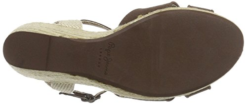Pepe Jeans London Damen Shark Basic Sandalen Braun (Bark)