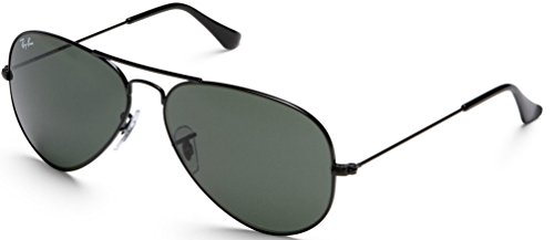 Ray Ban RB3025 L2823 Schwarz G-15 Unisex Sonnenbrille Aviator Sunglasses (Small Size 58mm)