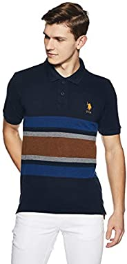 US Polo Men's Solid Regular Fit T-S