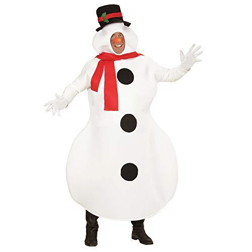 Widmann 02877 - Erwachsenenkostüm Schneemann, Kostüm und Nase, Größe M / L (Schneemann Kostüm Für Erwachsene)