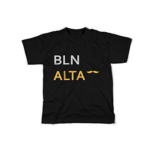 licaso Herren T-Shirt mit BLN ALTA Sprache Aufdruck in Black Gr. XXXXL Design Top Shirt Herren Basic 100{23cc0243d907ee618dcf018b4574feb384bf42544c5257c7c69e52efbda8242b} Baumwolle Kurzarm