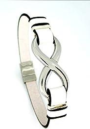 bracelet infinity, bracelet en cuir blanc, bracelet en cuir pour hommes, cadeaux d'anniversaire, cadeaux u
