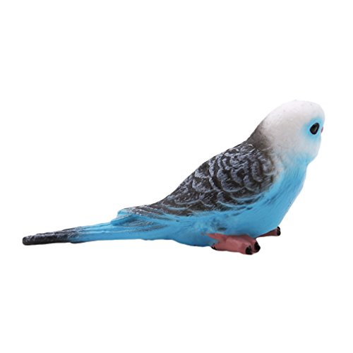 kemai Zoo Statue Spielzeug Kawaii Simulation Wald Papagei Miniatur Tier Modell Tier Spielzeug Modell Vögel Kinder, blau (Miniatur-wald Tiere)