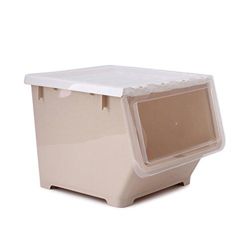 Speicher-einheit-kombination (Einfache cremefarbene 1-stufige Clamshell-Aufbewahrungsbox Abgedeckte Kunststoff-Frontöffnung Haushaltskleidung Spielzeug Finishing-Box Kostenlose Kombination Snack-Aufbewahrungsbox mit kleinen Rädern)
