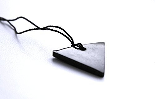 Unique Shungite Pendants Set  Shungite Triangle, 2 Pieces for Men and Women  by Karelian Heritage