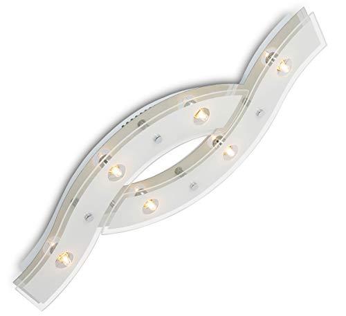 Sottile design vetro led lampadario plafoniera lampadari soffitto luce 72x25cm 6xG9 incl. led lampadini