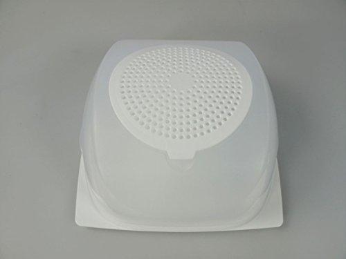 Tupperware A138 Fromagere Plastique Transparent 20,5 x 20,5 x 9,5 cm