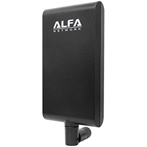 Alfa Network APA-M25 dual band 2.4GHz/5GHz 8 / 10dBi high gain directional indoor panel antenna with RP-SMA connector (compare to Asus WL-ANT-157)