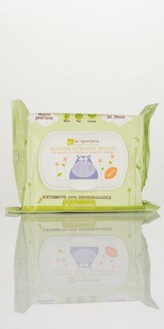 Salviette detergenti delicate senza profumo -La Saponaria-biologico certificato- 20 pz