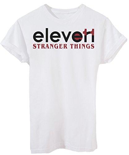 T-Shirt STRANGER THINGS UNDICI ELEVEN È IL MIO NOME - SERIE TV - by iMage Bianca