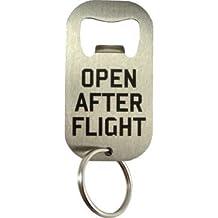 """Déco aéreo (–abrebotellas llavero en acero inoxidable """"Open After Flight"""""""