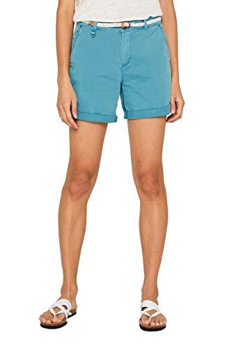 ESPRIT Damen 039EE1C002 Shorts, Blau (Teal Blue 455), W(Herstellergröße: 38) China Blue Lace