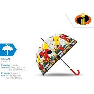 LOS INCREIBLES Paraguas Transparente Cupula 48cm Manual