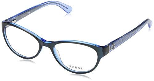 Guess Damen Brille Gu2592 52090 Brillengestelle, Blau, 52
