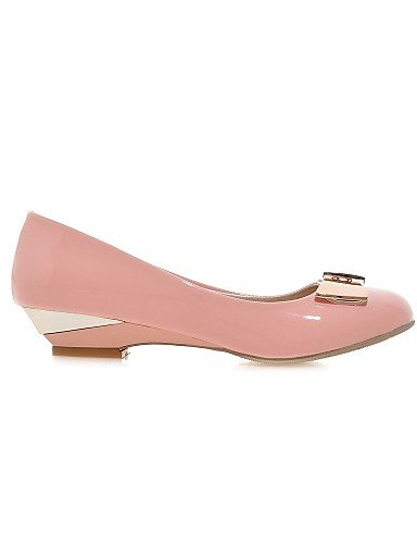ZQ Scarpe Donna - Mocassini - Casual - Zeppe - Zeppa - Finta pelle - Nero / Rosa / Bianco , pink-us10.5 / eu42 / uk8.5 / cn43 , pink-us10.5 / eu42 / uk8.5 / cn43 pink-us8.5 / eu39 / uk6.5 / cn40