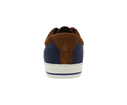 Ralph Lauren Vaughn Saddl SK VLC Black Mens Trainers Newport Navy/New Snuff
