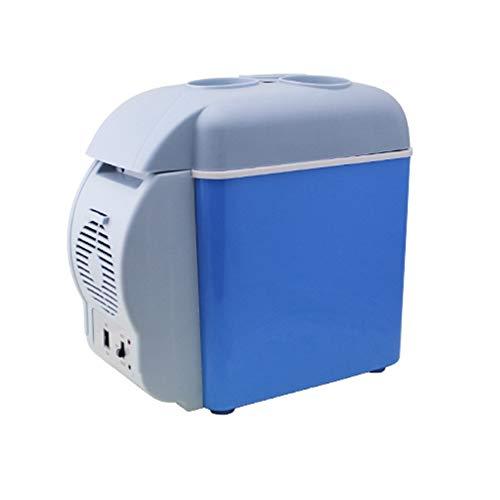 LEEPY 7,5 l Kleiner Mini-Kühlschrank mit Kühl- und Gefrierfach, Heizung, Lebensmittel- und Getränkekühler, für Auto, Camping, Picknick, Strand, Büros, Studentenwohnheim, Reise (Camping-lebensmittel-heizung)