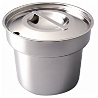 Bain Marie Pot and Lid - 18/8 stainless steel. 4 litre 7 pint capacity.