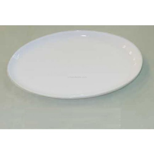 Devnow Ceramics White Romance Oval Plate 29.5 cm