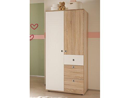 """Kinder-Kleiderschrank Drehtürenschrank Schrank Babyzimmer \""""Floris I\"""""""