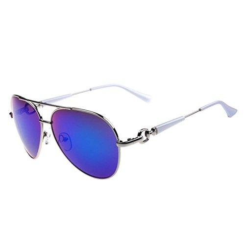 Tansle Damen Sonnenbrille Blau Bianco/blu L