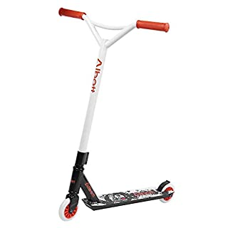 Albott® Sports Pro Push Stunt Scooter Trick Kick Scooter 360 Degree Steet Fixed Bar for Children Kids Adult (Orange-black)