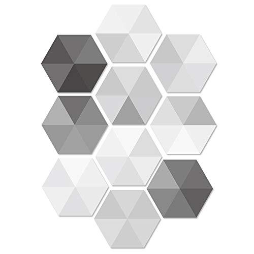 Pacawa Auto-adhésif Carreau Sol Autocollants,Sticker Carrelage Adhésif, Stickers Carrelage Mural Escalier pour Cuisine Salle de Bain de Ciment Antidérapant étanche 10 Pièces