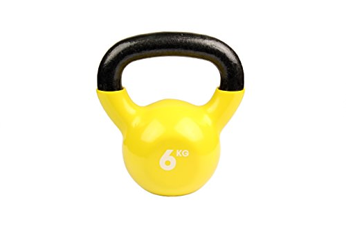 NO.1# HEALTHY LIVING  FITNESS-MAD KETTLEBELL – YELLOW, 6 KG REVIEWSUK