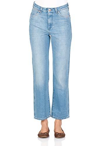 Wrangler Damen Jeans Retro Straight - Straight Fit - Blau - B&Y Hot Shot, Größe:W 27 L 32, Farbe:B&Y Hot Shot (W238GX14X) - Damen Wrangler Jeans