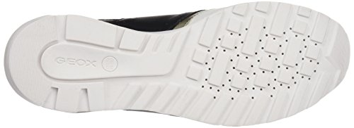 Geox D Phyteam A, Sneakers Basses Femme Blanc (WHITE/BLACKC0404)