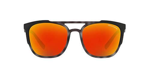 Armani Exchange Injected Man Antipolarisierte Iridium-Sonnenbrille für Herren, Mattgrau Havana, 56,0 mm