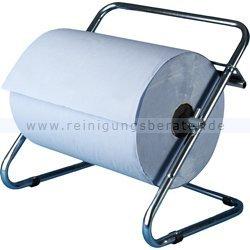 Rollenhalter für Putzrollen Wandhalter aus Metall bis 40 cm Rollenbreite geeignet