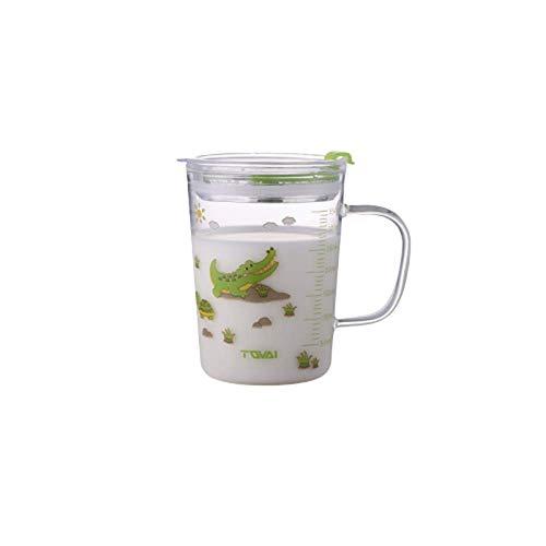 Kaffeetassen Kaffee Kakaotasse Kaffeetasse, Kaffeebecher Tee Mit Skala Stroh Tasse Glas Mädchen Ins Wind Erwachsener Hat Einen Henkel Saft Milch Tasse A1611