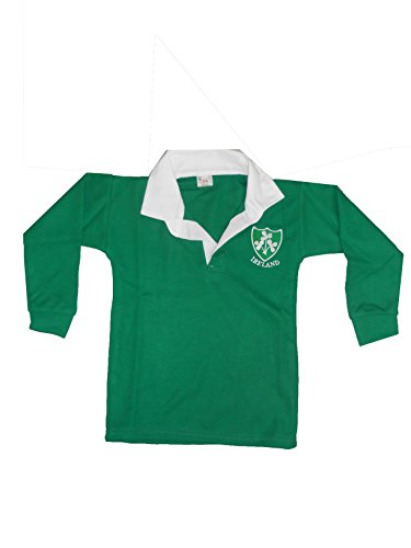 Childrens-Ireland-Shamrock-Tops-6-Nations-World-Cup-Kids-Full-Sleeve-Retro-Rugby-Shirts