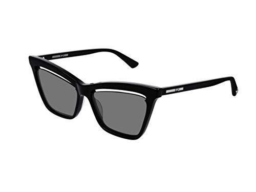 MCQ BY ALEXANDER MCQUEEN Damen Sonnenbrille Schwarz Schwarz Einheitsgröße