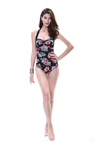 AMYMGLL Frau neue Bikini Umwelt hohe Elastizität Europa und die Vereinigten Staaten Mode Badeanzug sexy siamesischen Badeanzug black (hx16002a)