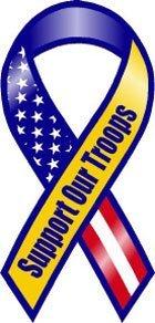 Rv-uniform (Blau und Gelb, unterstützen unsere Truppen Band Magnet)