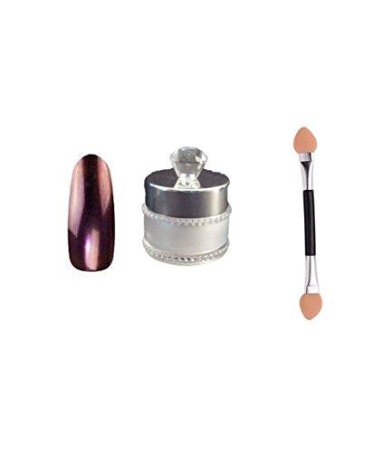 Chrome Poudre pour ongles effet miroir Nail Art Poudre, avec gratuit Brosse éponge Rouge, 6 G