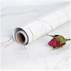 45 cm × 200 cm Marmo Adesivo per Mobili Adesivi Carta Marmo Autoadesiva Carta da Parati Adesivo Effetto Marmo in PVC Pellicola Adesiva in DIY Decorazione Ecocompatibile della Mobilia Impermeabile