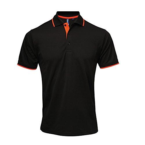 Premier - Coolchecker - Polo - Uomo Nero/Rosso