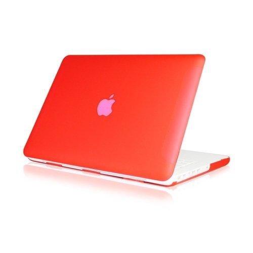 'Hartschale Satin matt für 13Zoll weiß Unibody MacBook 13(Modell: A1342/ausgestellt nach Oktober. 2009) rot (Taschen Ausgestellte)