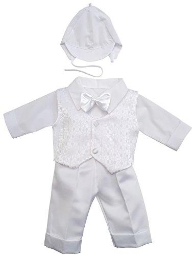 YES Taufanzug Festanzug Babyanzug Anzug Junge Baby Taufe Set Justin wieß 62 - 2