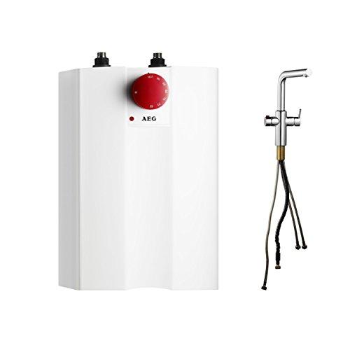 AEG Heißwassersystem inklusive Spezialarmatur mit Kindersicherung, HOT 5 + AEuS, 2 kW, 5l, drucklos, weiß, 234238