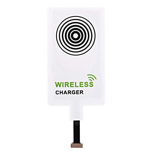 Beautyshow Wireless Qi-Empfänger mit Ladefunktion, kabelloser Ladegerät Adapter für Samsung Galaxy, Sony, LG, MEIZU, alle Android Telefone & Geräte mit Universal Micro-USB-Schnittstelle - Weiß