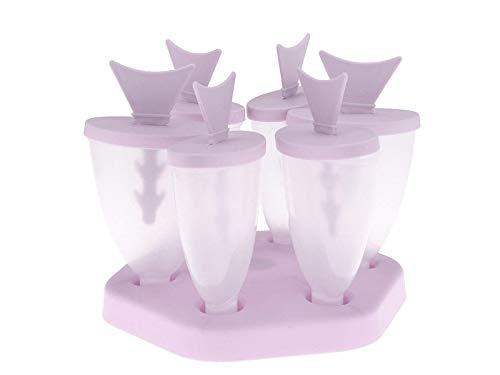 OVVO Tropische Fische EIS am Stiel Formen Kunststoff EIS Lolly Formen Eiswürfelschale (grün) Formen Kuchen Dekorieren Tools (Farbe : Lavender, Größe : 14.7x14.7x12.7cm)