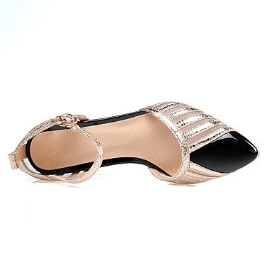 WSX&PLM Da donna-Tacchi-Matrimonio Formale Serata e festa-Cinturino alla caviglia-A stiletto-Tulle Finta pelle-Nero Rosso Bianco black