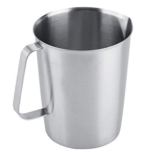 OKBY Jarra espumosa - Jarra Grande de la Taza de la Taza de medición del Acero Inoxidable 2000ml Leche Jarra de la Jarra para el Arte del café de Latte