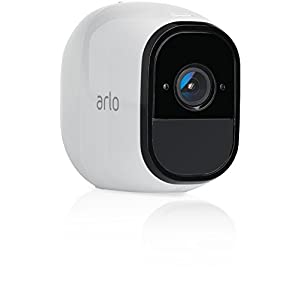 Arlo Pro Smart Home Zusatz-Security-Überwachungskamera (100% kabellos, 720p HD, 130 Grad Blickwinkel, WLAN, Nachtsicht) weiß, VMC4030