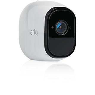 Arlo Pro Smart Home Zusatz-Security-Überwachungkamera (100% Kabellos, 720p HD, 130 Grad Blickwinkel, Nachtsicht) weiß, VMC4030-100EUS