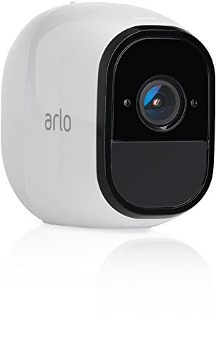 Arlo Pro Smart Home Zusatz-Security-Überwachungskamera (100% kabellos, 720p HD, 130 Grad Blickwinkel, WLAN, Nachtsicht) weiß, VMC4030 Smart Audio